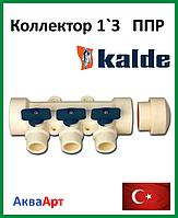 Коллектор Kalde на 3 выхода BLUE