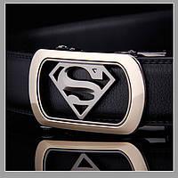 Мужской ремень из натуральной кожи Superman