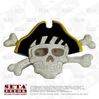 Значок Пират светящийся на пиратскую вечеринку