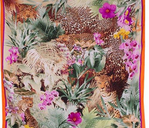 Оригинальный женский шелковый платок размером 86*86 см ETERNO (ЭТЕРНО) ES0611-8-orange