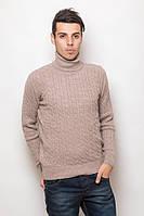 Теплый свитер с высоким воротником стойкой