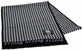 Шерстяной мужской шарф 170 на 30 см 50146-18 серый