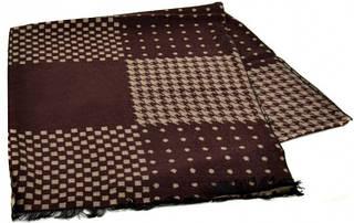 Шерстяной мужской шарф 170 на 30 см 50146-20 Коричневый