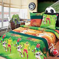 """Подростковое постельное белье Kidsdream """"Чемпионат Мира"""" полуторного размера."""