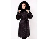 Женское пальто с мехом холлофайбер  Rufuete И 73-OS