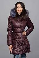 Зимняя женская молодежная куртка. Код К-61-12-16. Цвет шоколадный.