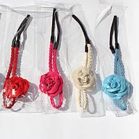 Повязка на голову для греческой прически косичка с цветком
