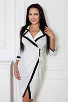 ТМ Ghazel Платье Классика белый / черный Ghazel