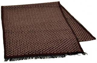 Оригинальный шерстяной мужской шарф 170 на 30 см 50146-28 коричневый