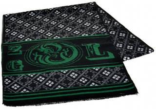 Необычный шерстяной мужской шарф 170 на 30 см 50146-29 черный