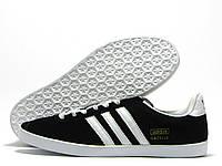 Кроссовки мужские Adidas Gazelle черные (адидас газель)
