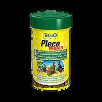 Корм для аквариумных рыб Tetra PLECO Wafer 100 мл корм для всех видов травоядных рыб