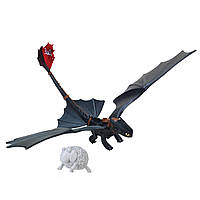 Дракон Беззубик DreamWorks Dragons Defenders of Berk - Action Dragon Figure - Toothless Night Fury