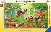 Пазл в рамке Лесные малыши 15 элементов Ravensburger 06376R