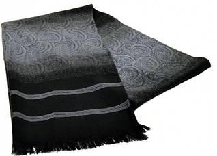 Оригинальный мужской шерстяной шарф 180 на 43 см 50149-18 серый