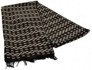 Классический мужской шерстяной шарф 180 на 43 см 50149-6 Коричневый