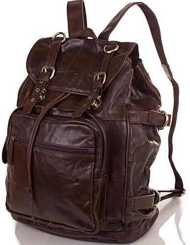 Мужской кожаный рюкзак Eterno (Этерно), ET1015, коричневый