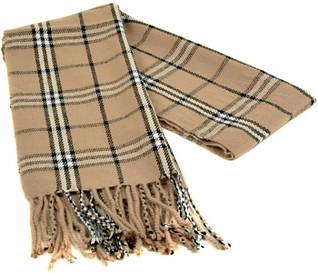 Яркий мужской шарф 190 на 31 см 5014-5 бежевый