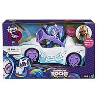 Большой автомобиль DJPon для кукол пони Девушки Еквестрии с очками в комплекте.My Little Pony Equestria Girls
