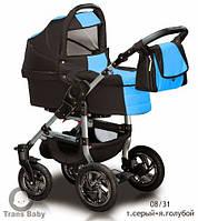 Коляска универсальная детская коляска 2 в 1 Jumper серый ярко голубой