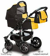 Коляска универсальная детская коляска 2 в 1 Jumper серый желтый