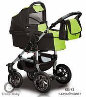 Коляска универсальная детская коляска 2 в 1 Jumper серый салатовый