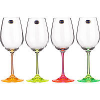 Бокал для вина Bohemia Neon, 350 мл (уп 4 шт)
