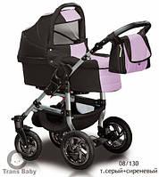 Коляска универсальная детская коляска 2 в 1 Jumper серый сирень