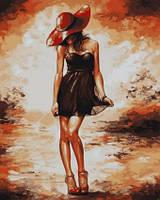 Живопись по номерам Турбо Черное платьице худ Имре Тот (VP514) 40 х 50 см