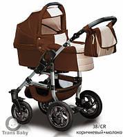 Коляска универсальная детская коляска 2 в 1 Jumper шоколад молоко