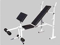 Универсальная скамья для жима + скамья Скотта + тренажер для ног