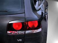 Реснички (накладки на стопы) VW Touareg задние