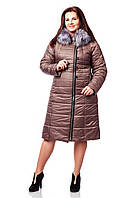 Пуховик  женский  зимний с капюшоном Лаке