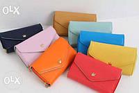 Женский кошелек Корона, в коробке, разные цвета
