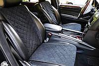 Накидки на сиденья автомобиля (передние, AVторитет, черный)