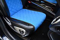 Накидки на сиденья автомобиля (передние, AVторитет, синий)