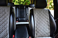 Накидки на сиденья автомобиля (полный комплект, AVторитет, серый)