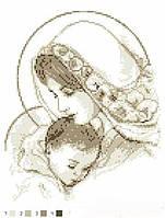 Вишивки бісером Марія з дитям (коричнева)
