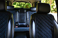 Накидки на сиденья автомобиля (полный комплект, AVторитет, черный)
