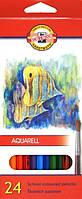 Карандаши акварельные 24 цв Mondeluz Рибки Koh-i-Noor 3718