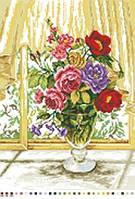 Канва с рисунком Розовый букет
