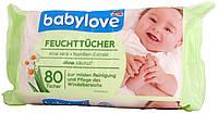 Влажные салфетки детские DM Babylove Feuchte Tucher Aloe vera + Kamillen-Extract (80 штук)