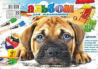 Апельсин Альбом для рисования А4 на пружине, 20 листов, плотность 120 г/м, арт АМ-П-120-20