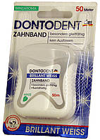Зубная нитка Dontodent Zahnband Brillant Weiss 50м.