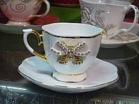 """Чайная чашка """"Принцесса"""" набор 2 предмета чашка с блюдцем 220мл"""
