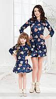 Family Look Парные платья мама+дочка 3D принт