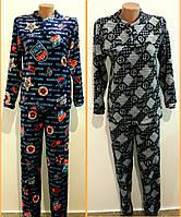 Мужская махровая пижама цветная