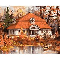 """Картина раскраска по номерам на холсте 40*50 см """"Осень"""" Munglei"""