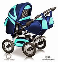 Коляска универсальная детская коляска трансформер 2 в 1 Prado синий бирюза