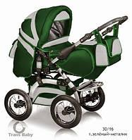 Коляска универсальная детская коляска трансформер 2 в 1 Prado зеленый металлик